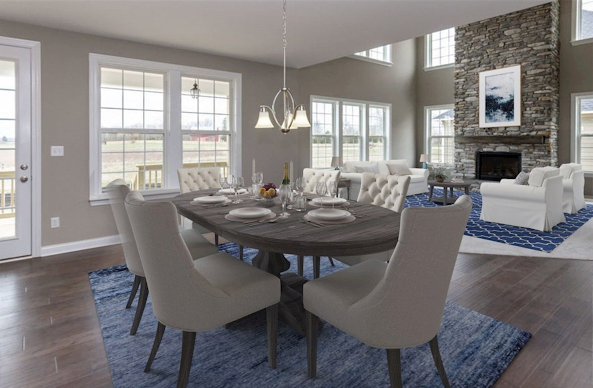 Oakhill quick move-in Open concept breakfast area and great room