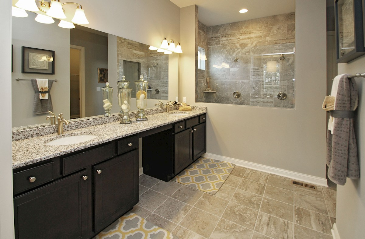 Hampshire Meridian Collection Capitol master bath with spa shower