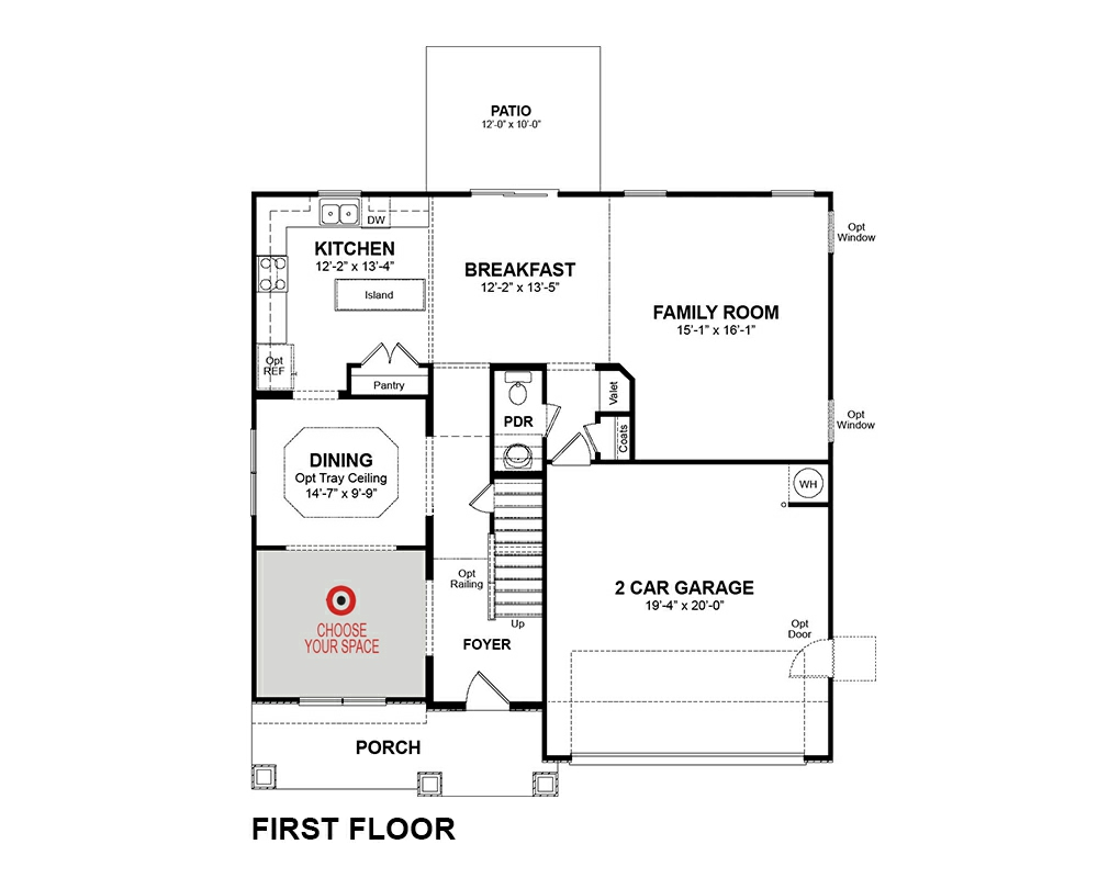 Bradley Home Plan in Weaver\'s Pond, Zebulon, NC | Beazer Homes ...