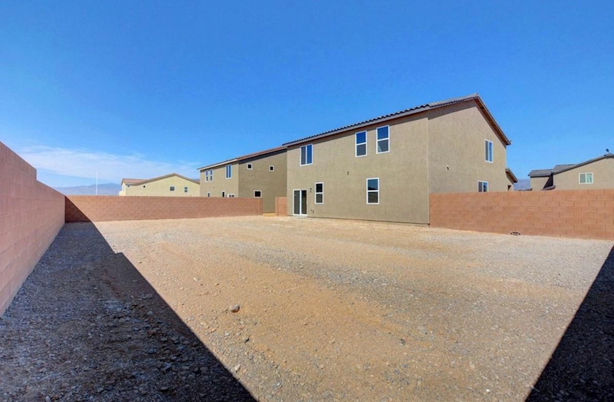 Sienna quick move-in Burson Ranch Enclave, Pahrump,NV Sienna Oversized Backyard