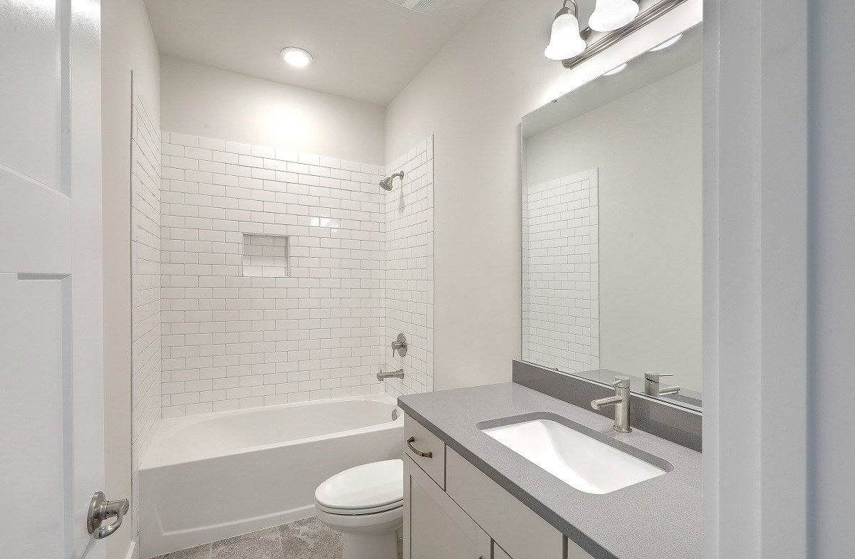 Sycamore quick move-in modern secondary bathroom