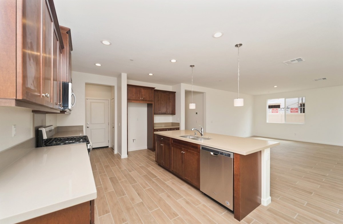 Sonoma quick move-in Entertain guests while preparing gourmet meals in this open-concept kitchen and great room