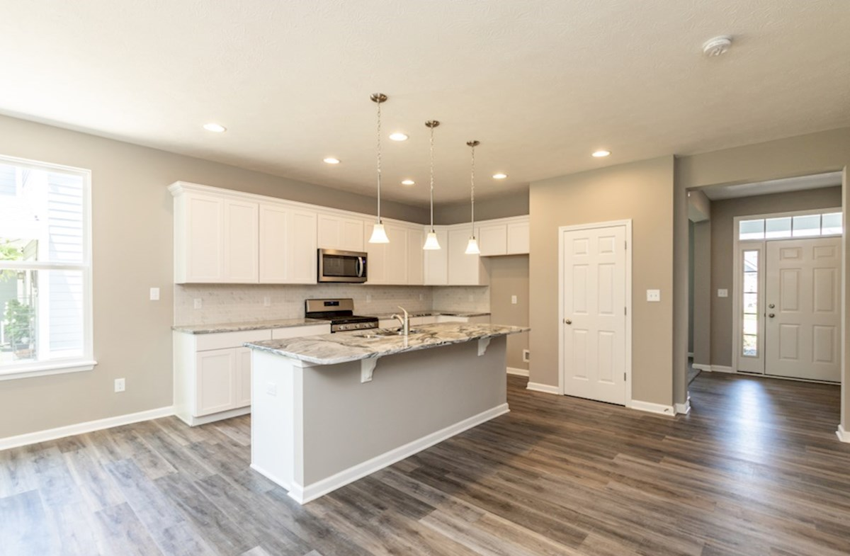 Hamilton quick move-in kitchen with spacious island