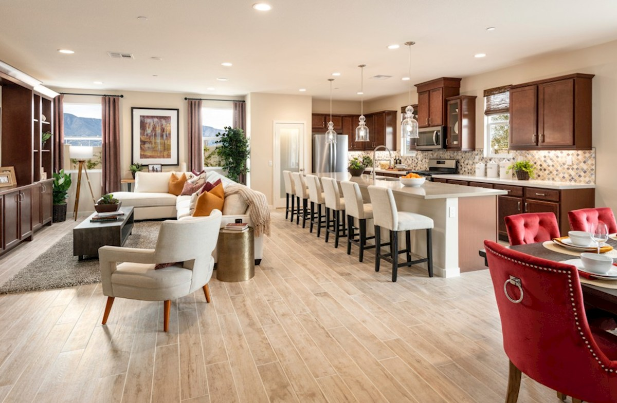 The Glen at Summerly Napa Entertain guests while preparing gourmet meals in this open-concept kitchen and great room