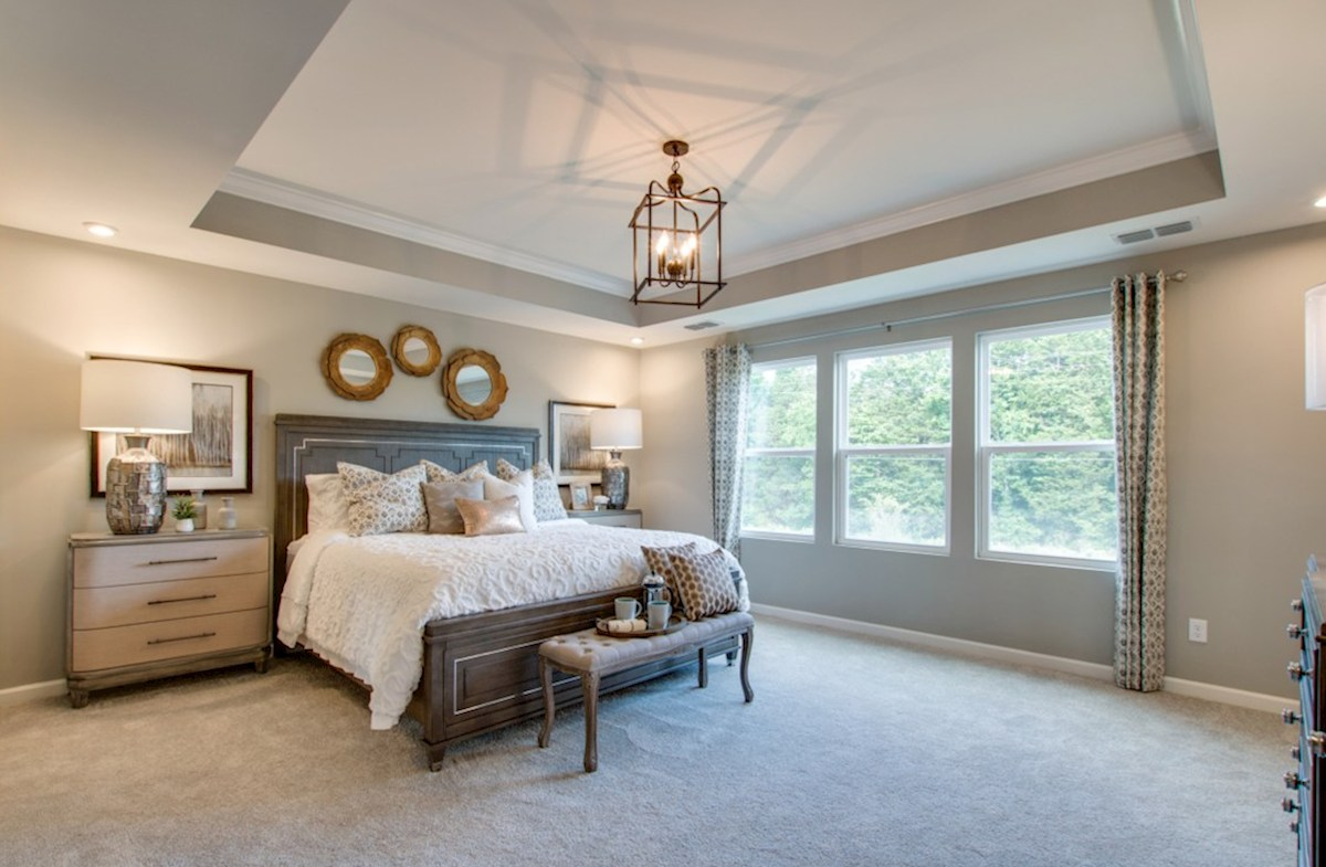Spring Creek Garner gracious master bedroom