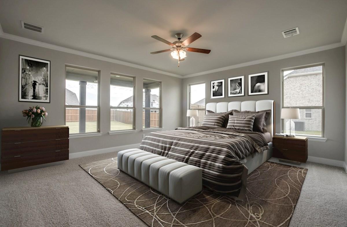 Stoney Creek Riverdale master bedroom boasts natural lighting