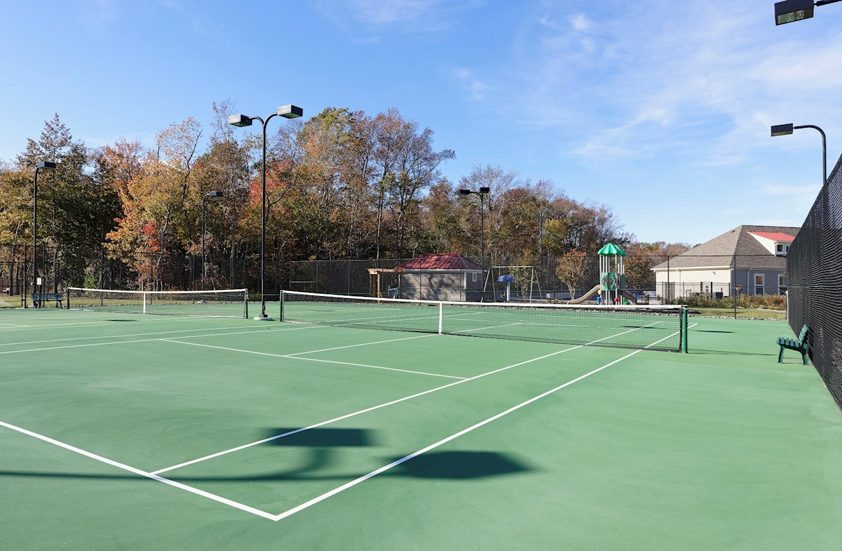 green tennis courts