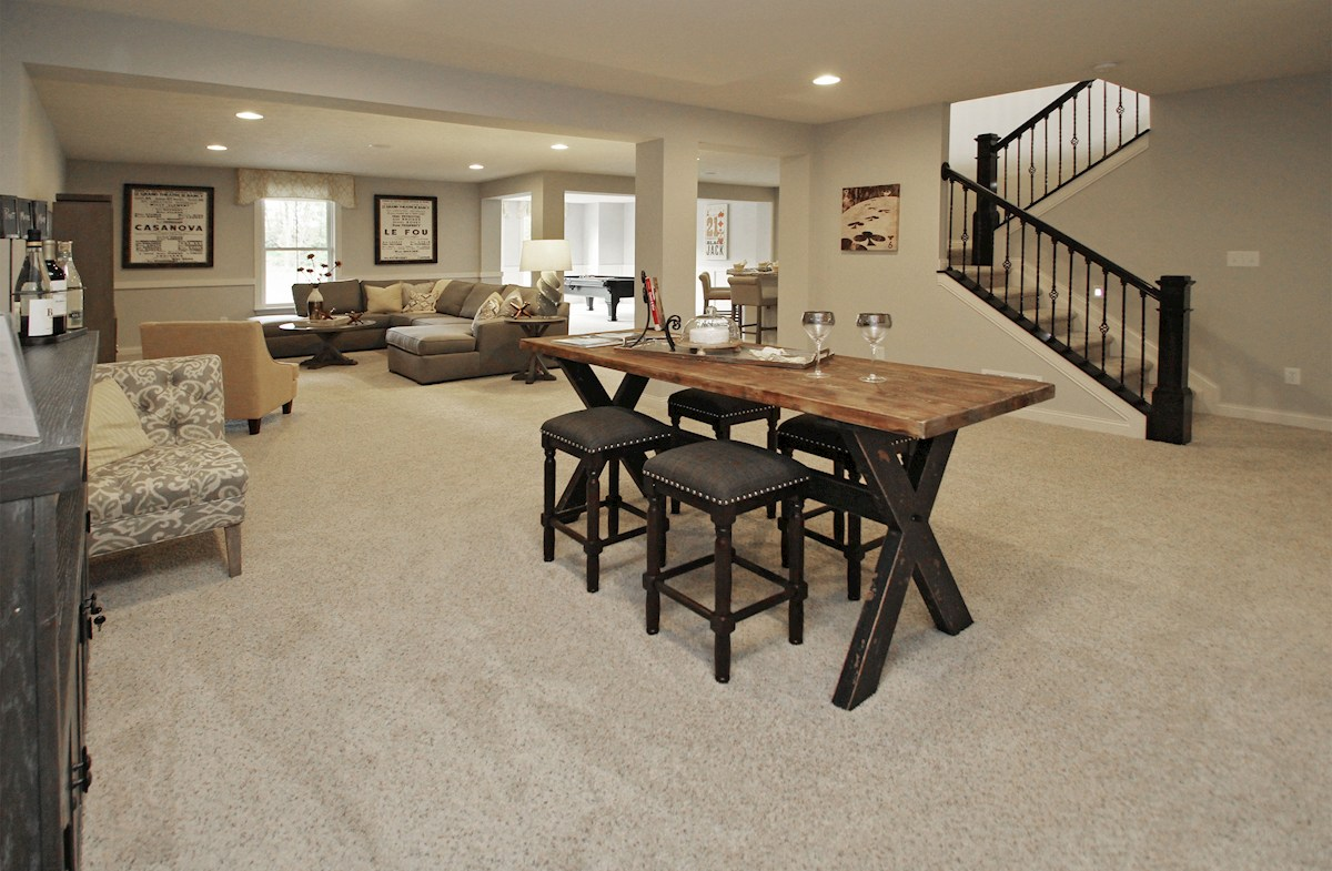 Hampshire Meridian Collection Capitol finished basement with additional media room