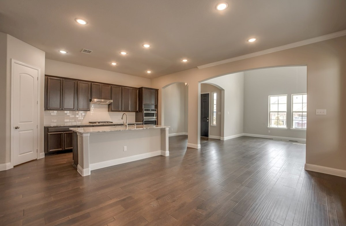 Brenham quick move-in open kitchen next to open dining room