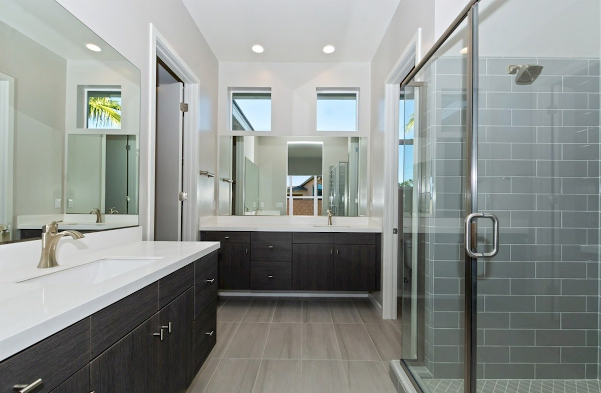 Residence 2 quick move-in Separate vanities give you more space and privacy