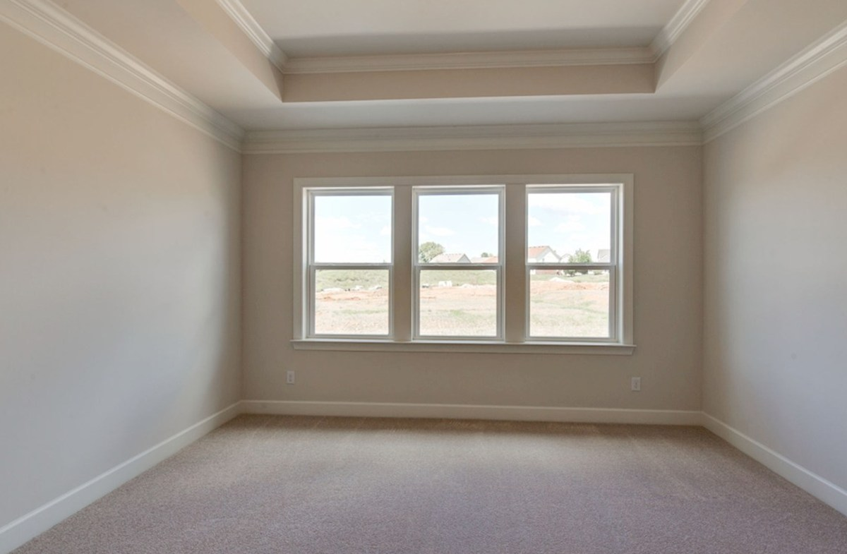 Oxford quick move-in main floor master bedroom with triple windows