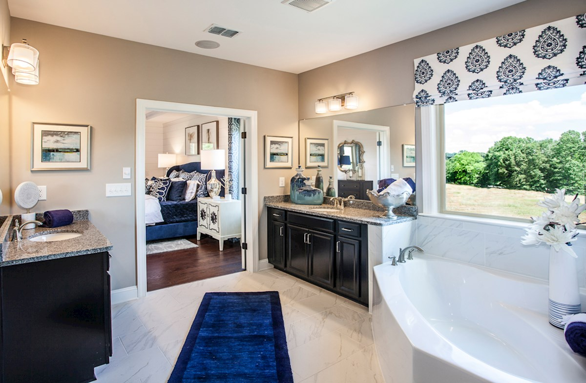 Summit at Towne Lake Springdale spa-inspired master bathroom