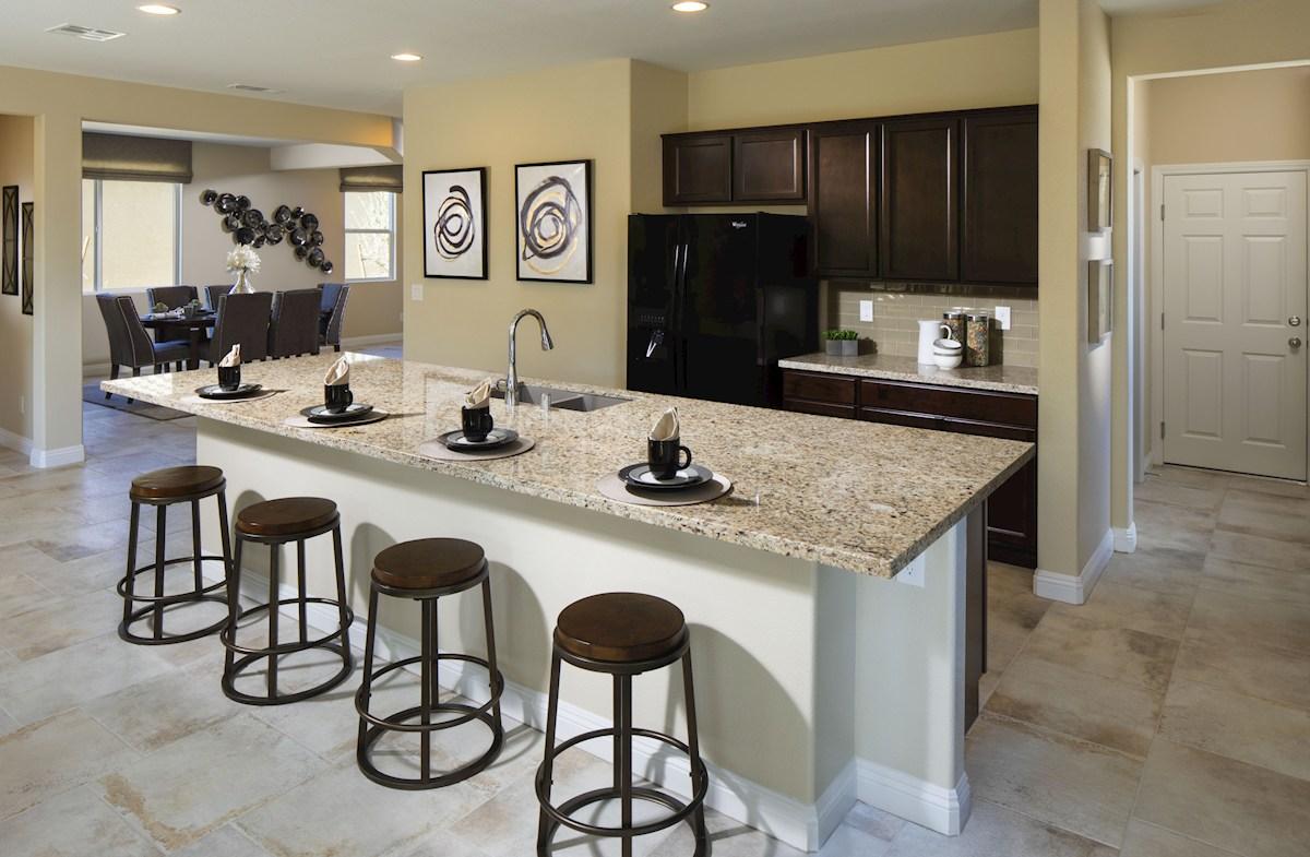Dorrell Estates Sienna Gourmet kitchen includes an oversized island