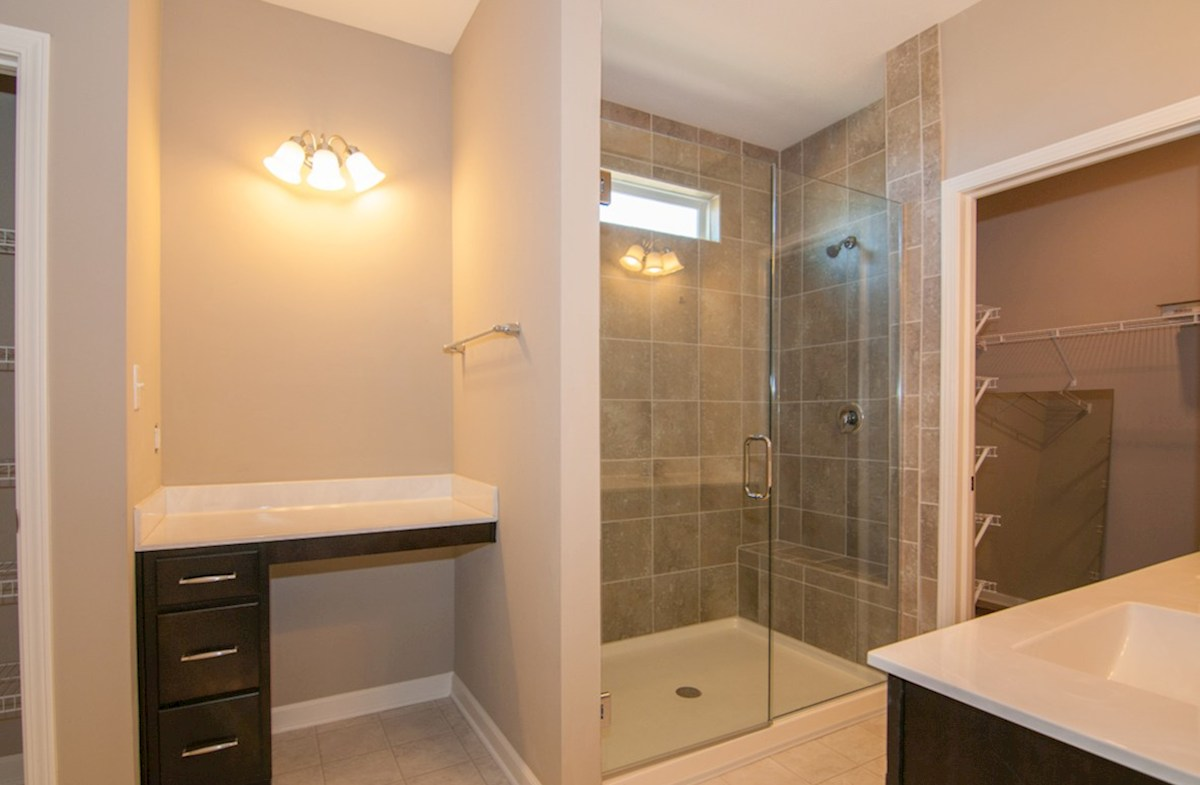 Summerland Park Hamilton master bath with tiled spa shower