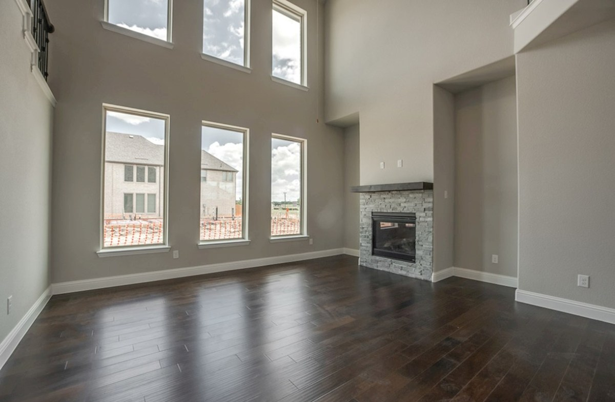 Fairfield quick move-in great room with wood floors and fireplace