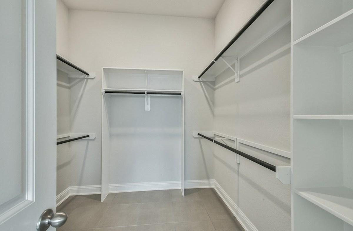 Capri quick move-in master closet with built-in shelves