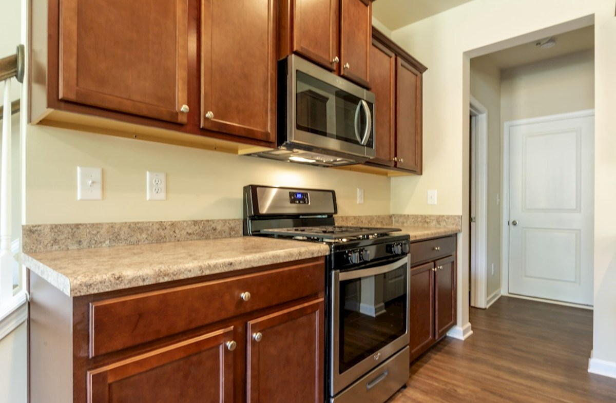 Burton quick move-in Kitchen with stainless steel appliances