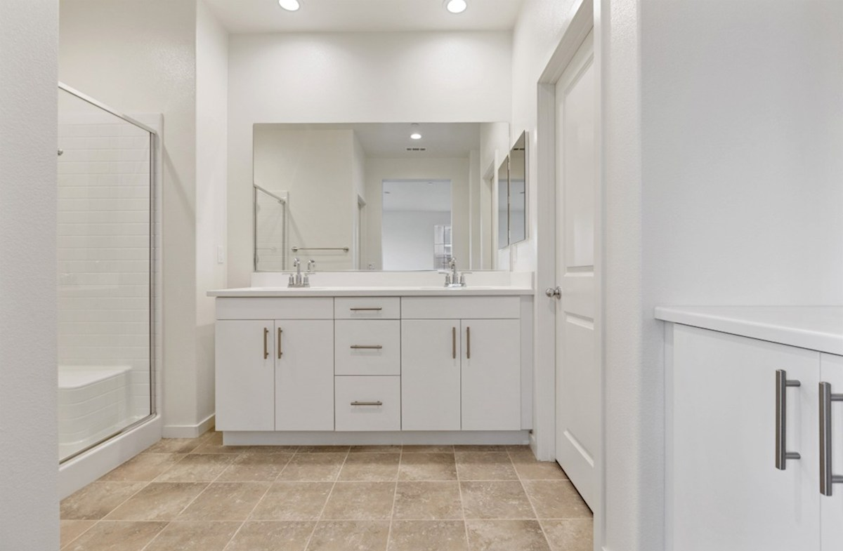 Snowberry quick move-in Separate vanities give you more space and privacy