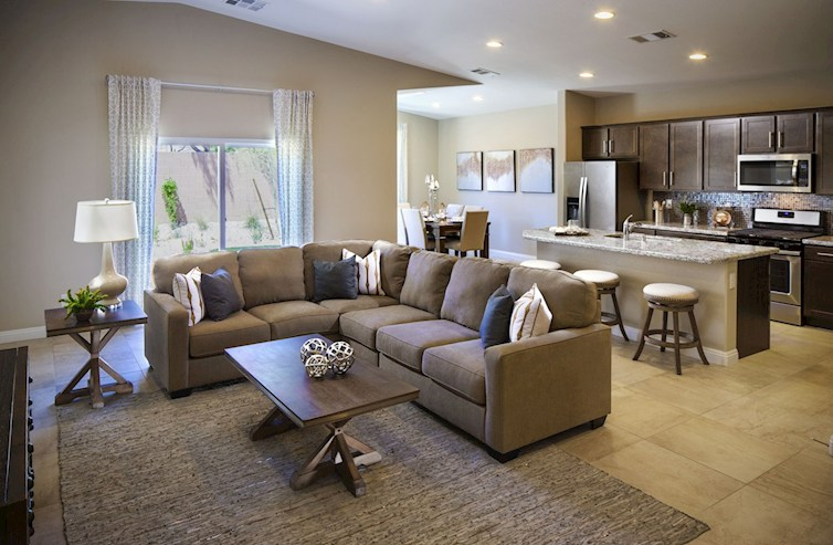 Summit open concept great room in the Summit plan