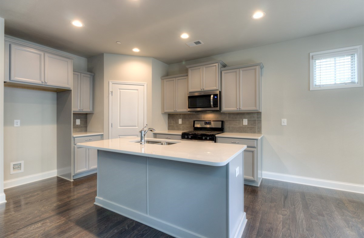 Spring Creek Place Georgetown Kitchen with gray cabinets