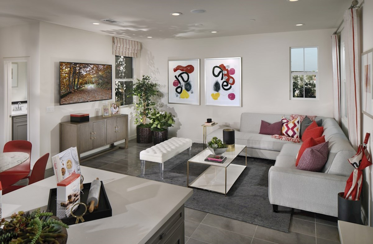 Mission Lane Cottonwood The living areas of the home are designed with your furtniture in mind