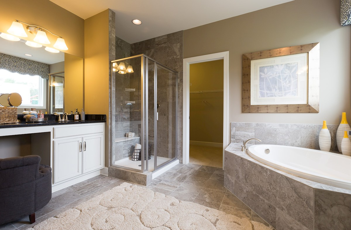 Whittmore Mckinley spa-inspired master bathroom