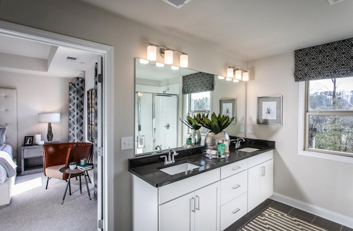 Spring Creek Place Lexington Master Bathroom with dual sinks