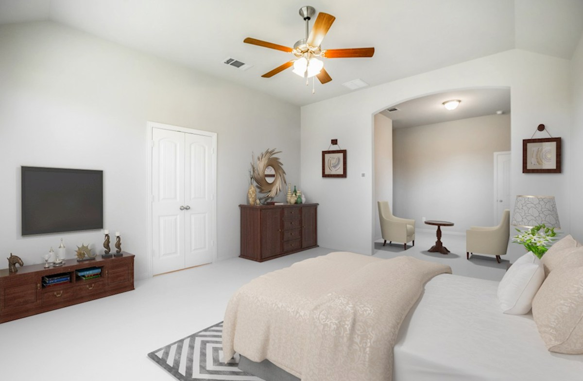 Lakewood Hills Covington Covington master bedroom with tall ceilings