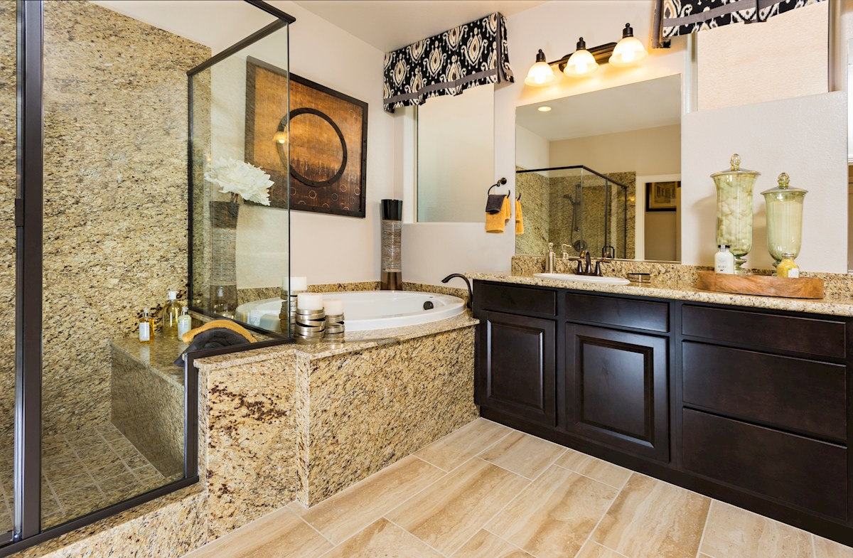 Park Collection at Inspirada Denali spa-inspired Master Bath
