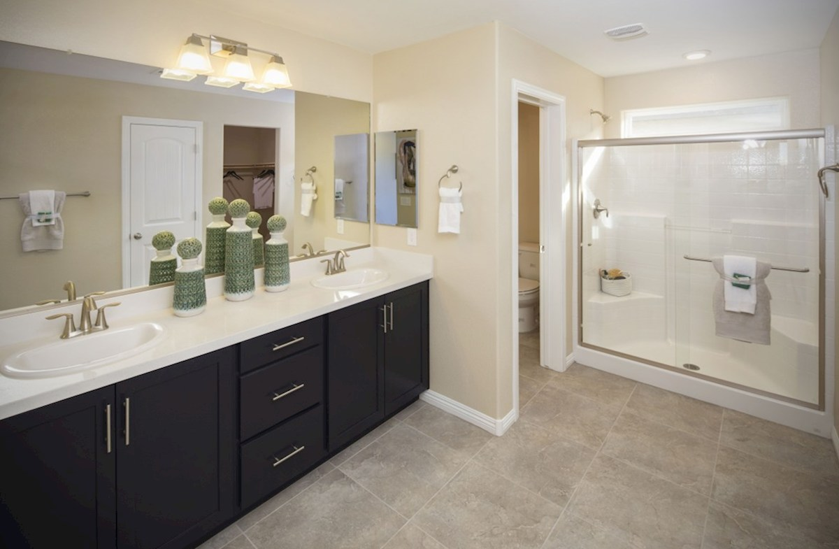 Hamilton Place Mesquite  Master Bath with sports shower