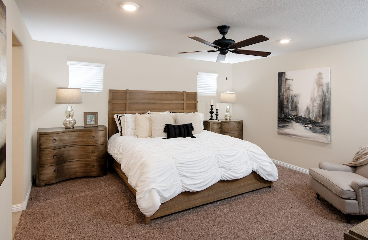 master suite in Sedona model