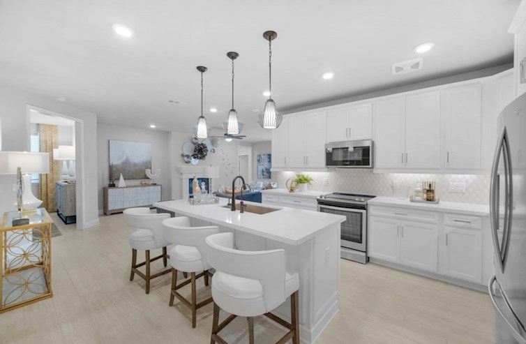 Wiltshire kitchen with large island and spacious cabinetry