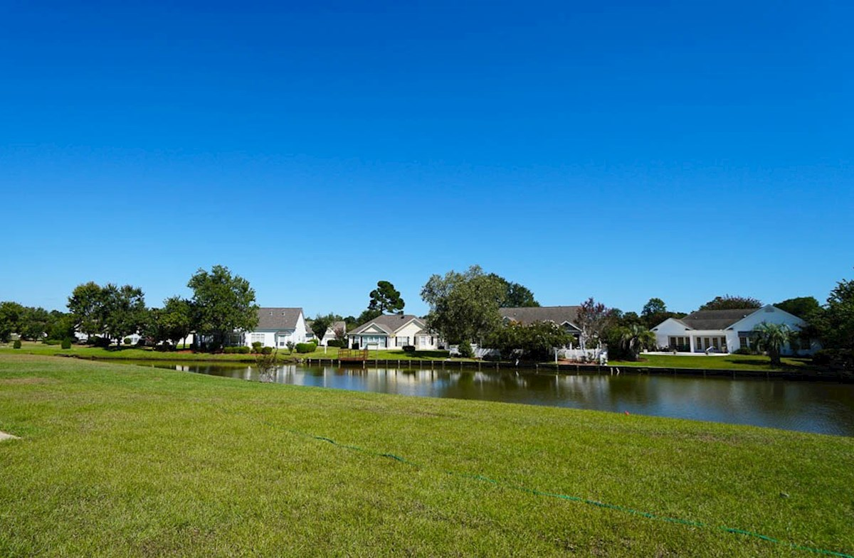 Ivey quick move-in backyard features a waterview