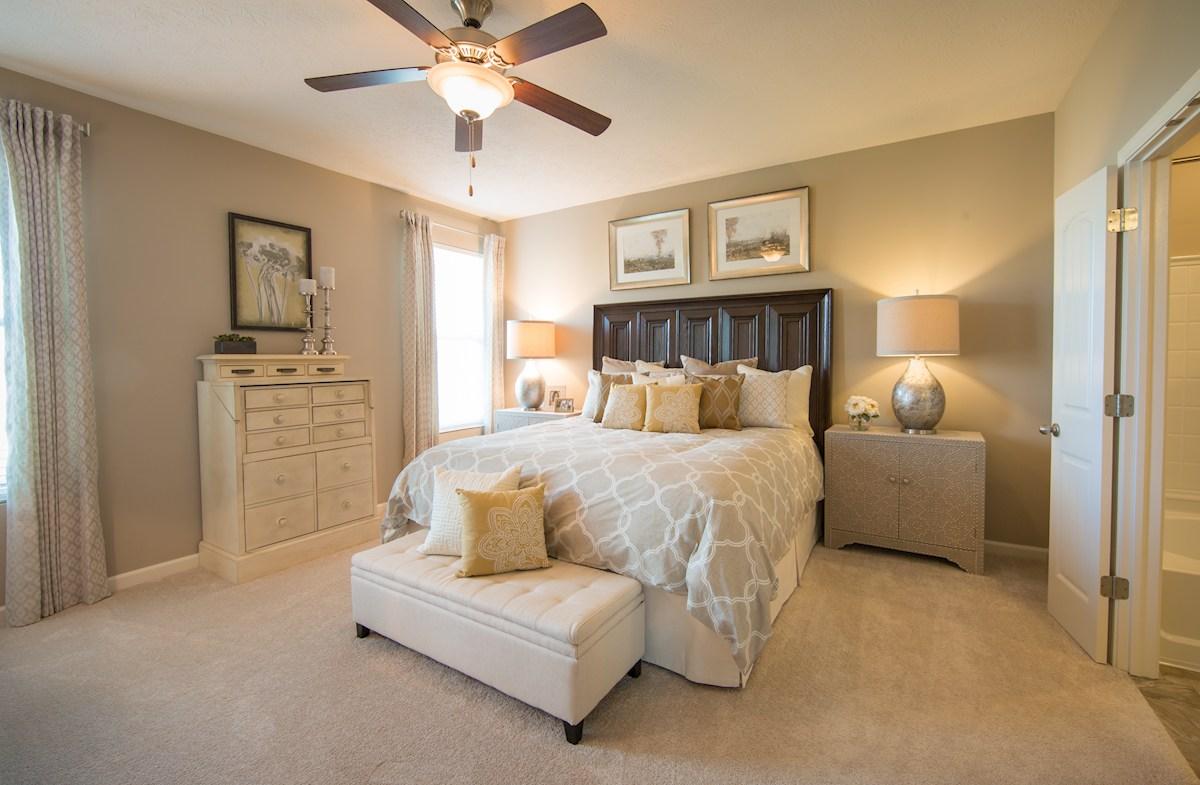 spacious first floor master bedroom