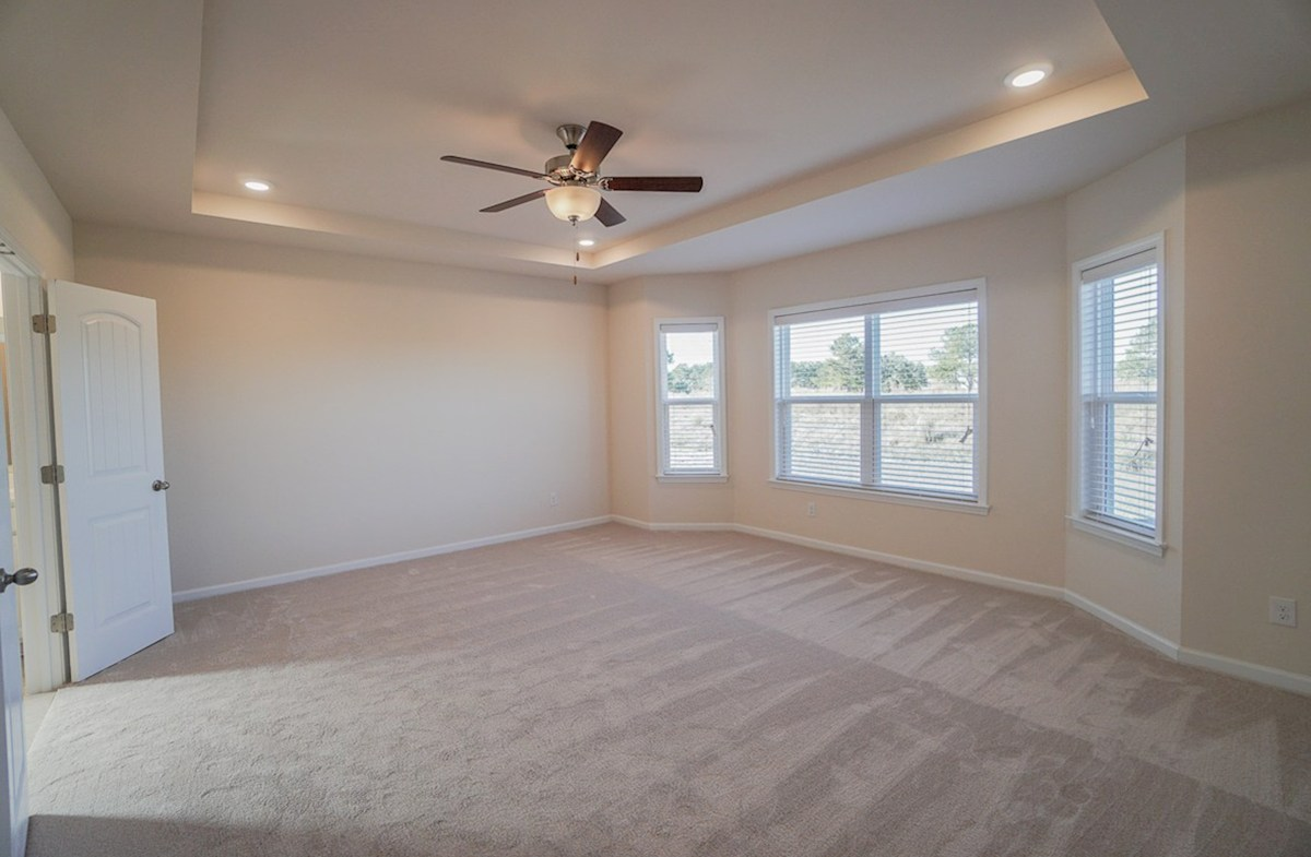Ivey quick move-in master bedroom features plenty of natural light