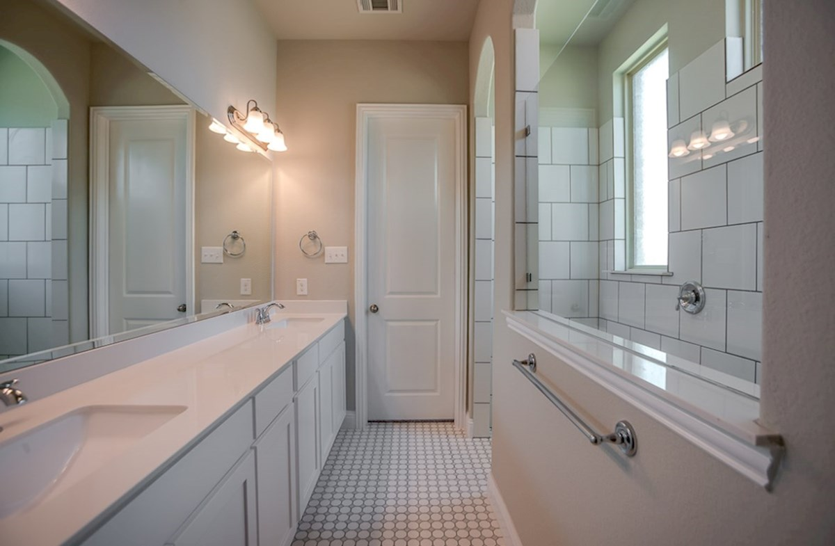 Eastland quick move-in master bath with walk-in sports shower