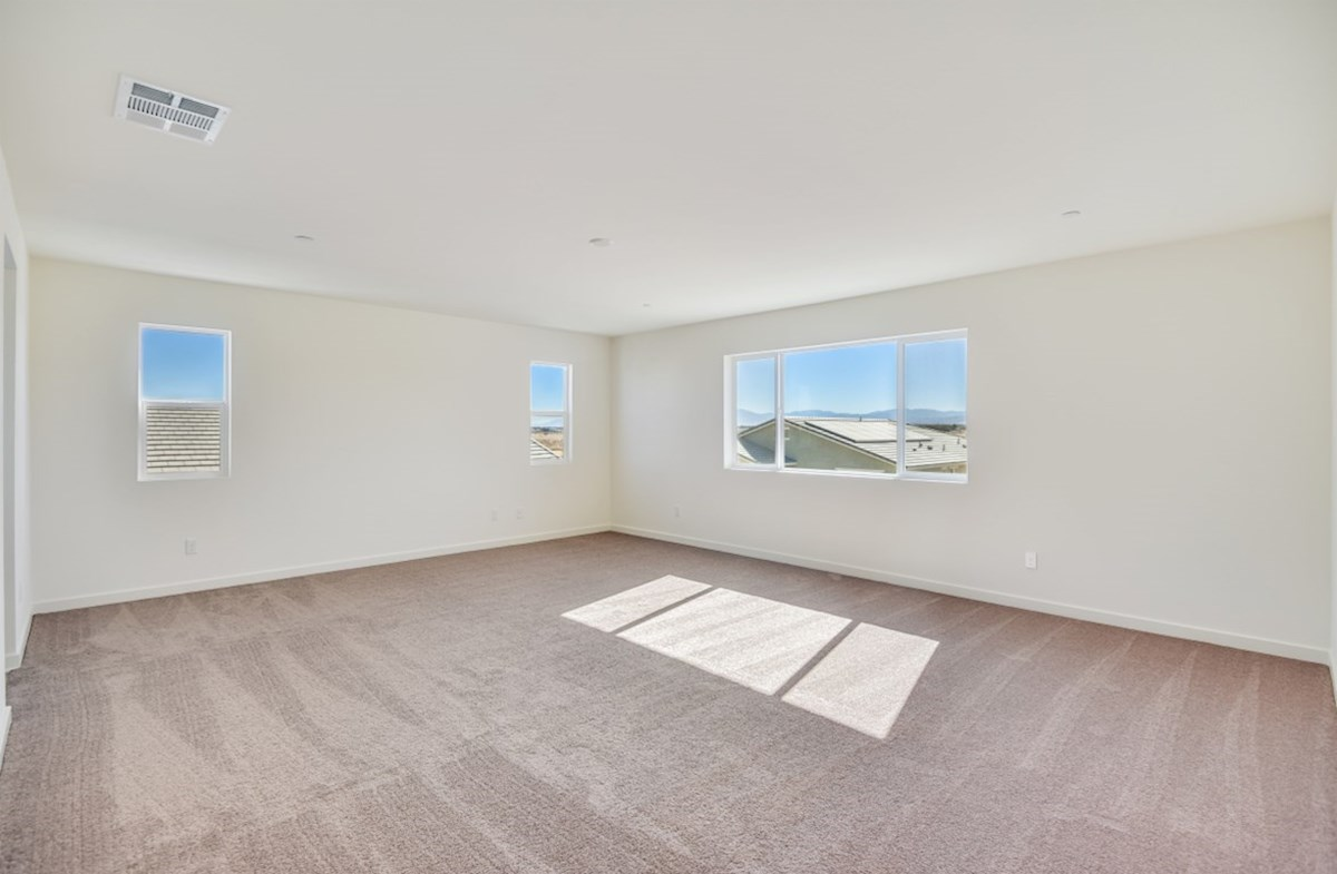 Starflower quick move-in Master bedroom located in the back of home for best exterior views and natural light