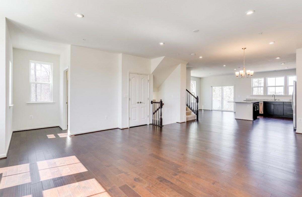 Annapolis quick move-in Annapolis great room featuring designer flooring