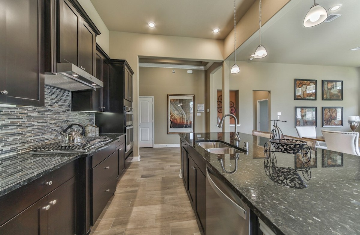 Cameron quick move-in kitchen with stainless steel built-in appliances