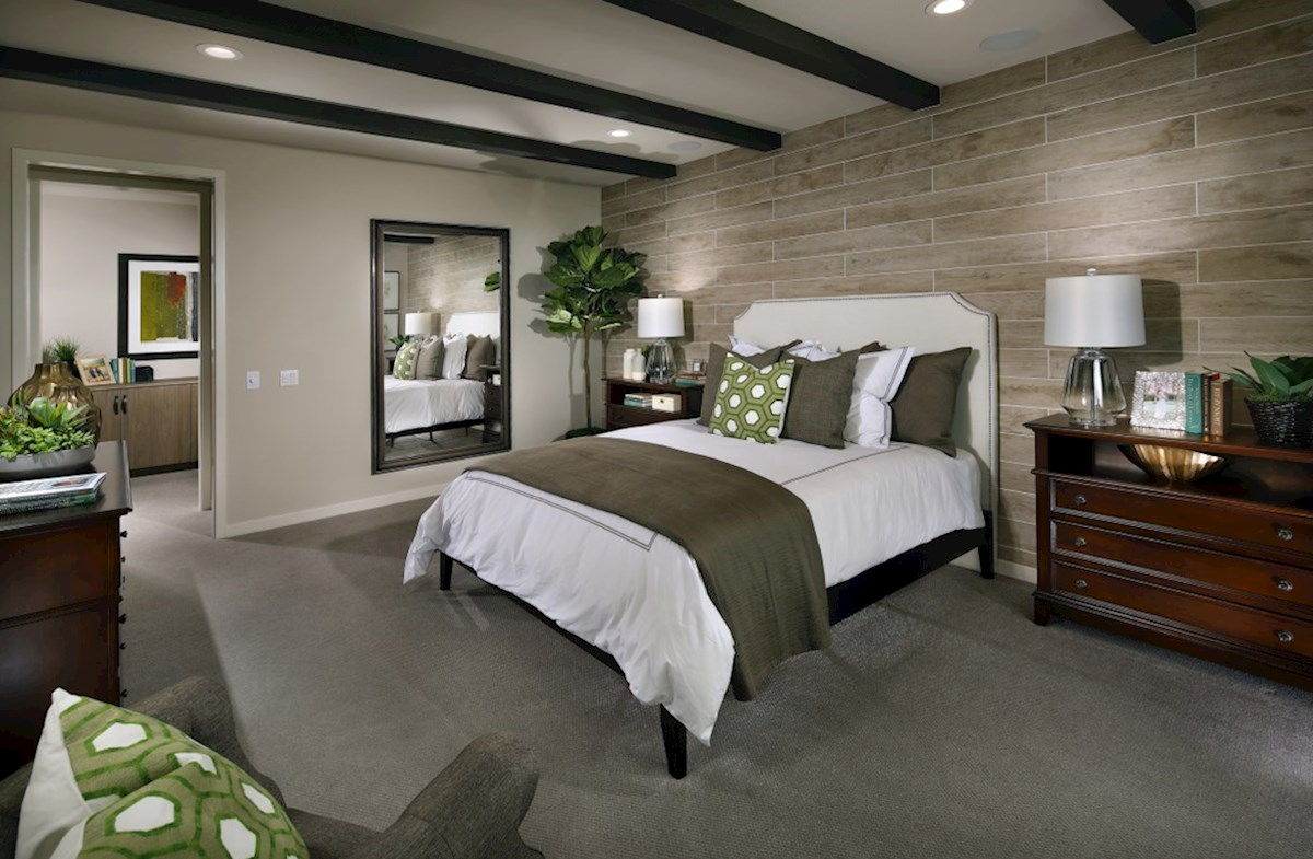 The Glen at Summerly Sonoma Master bedroom separated from secondary bedrooms to create privacy and reduce noise.