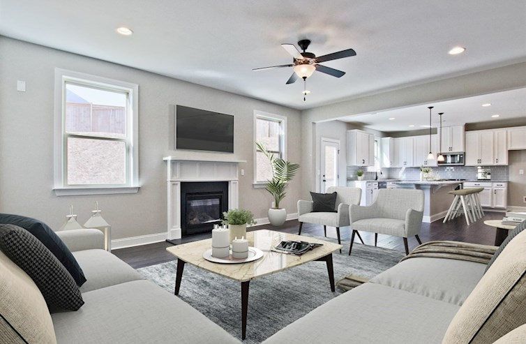 Summit at Towne Lake Manchester Family Room with fireplace