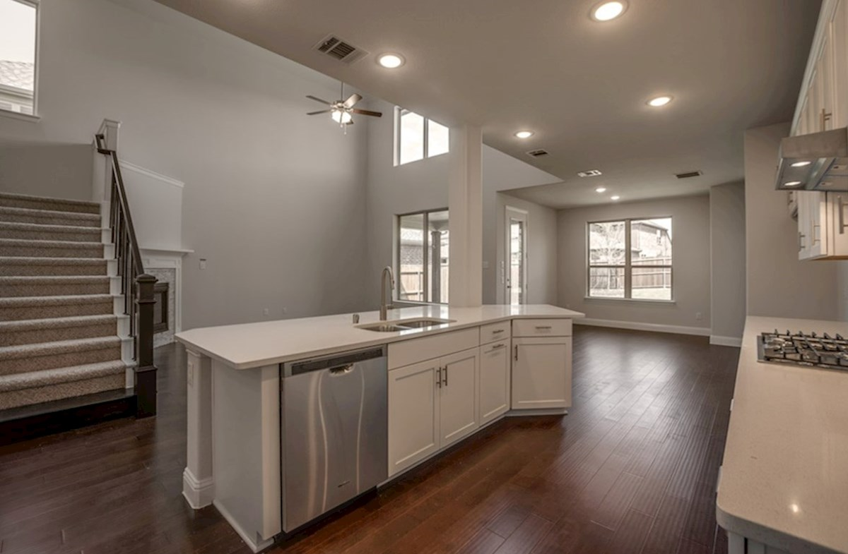 Brookhaven quick move-in Brookhaven kitchen with large island