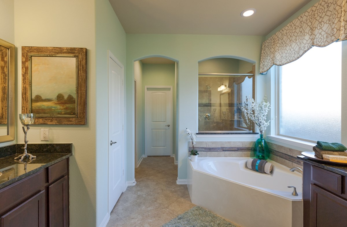 Bridgeland: Parkland Village Fenway spa-like master bathroom