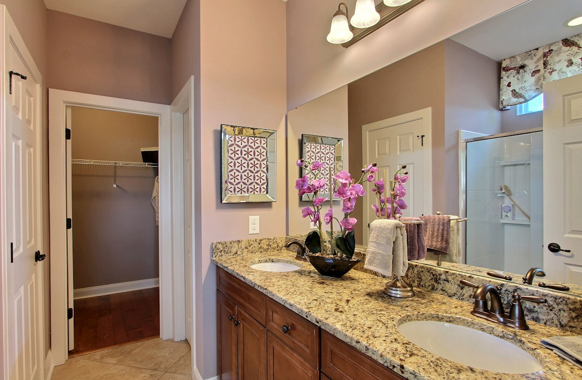 Maybank Village McKinley spa-inspired master bathroom