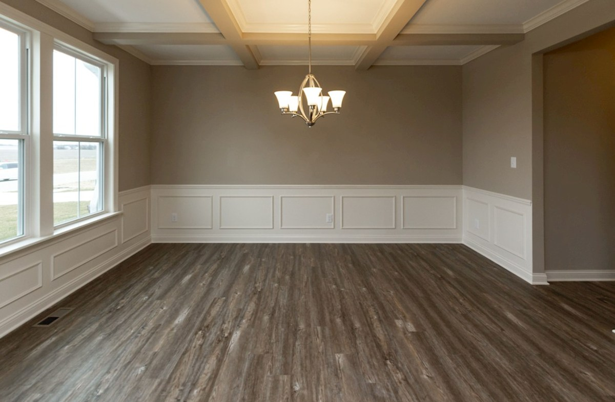 Oakhill quick move-in formal dining room with hardwood floors