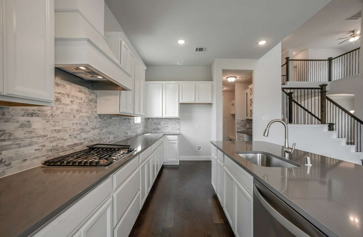 Summerfield quick move-in open kitchen with large island
