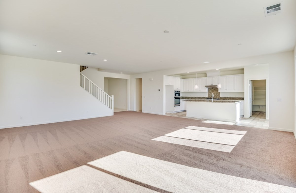 Starflower quick move-in A spacious great room is the perfect space for family bonding