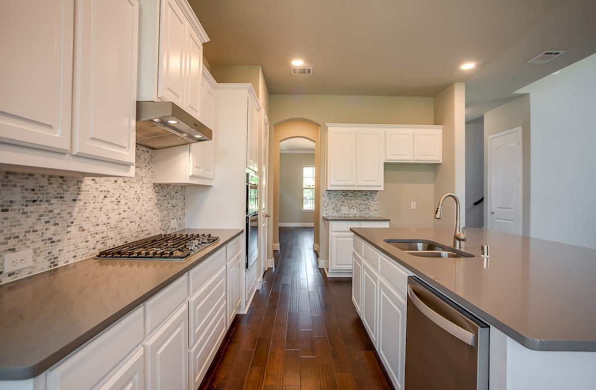 Whitney quick move-in kitchen with classic white cabinets