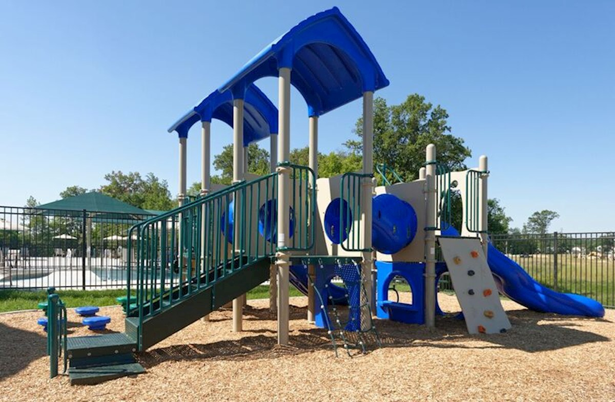 Community playgrounds with a slide