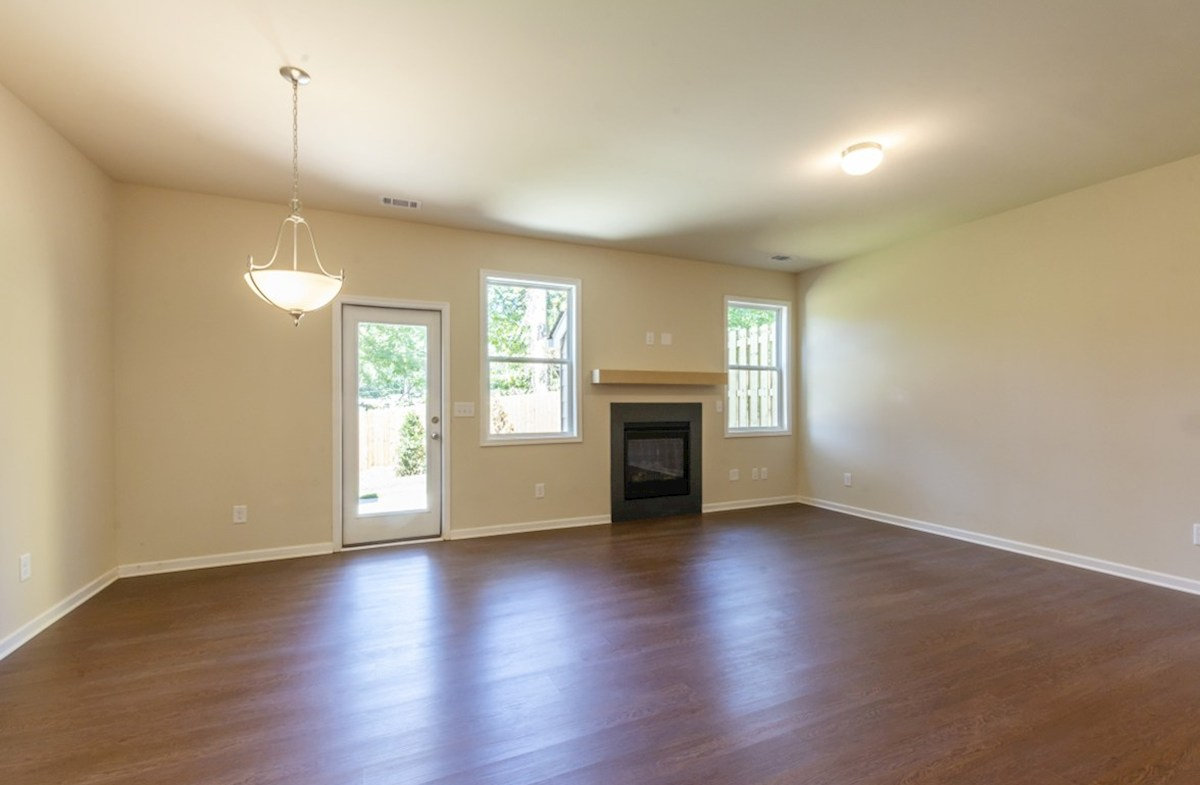 Hartwell quick move-in Family room with fireplace
